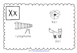 Preschool Letter X Activities and Worksheets