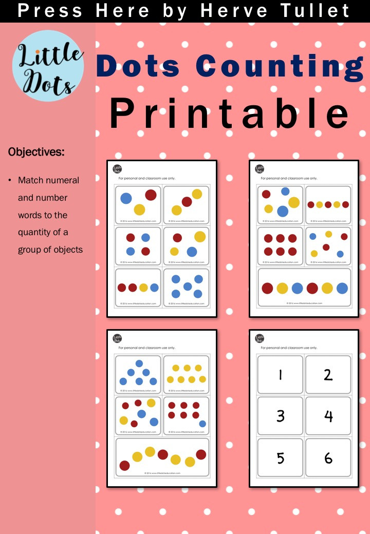 Free dots counting printable