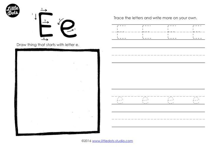 Letter E Tracing Worksheet