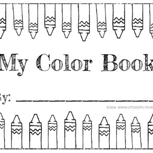Amazing My Book Of Colors Vignette - Printable Coloring Pages for ...