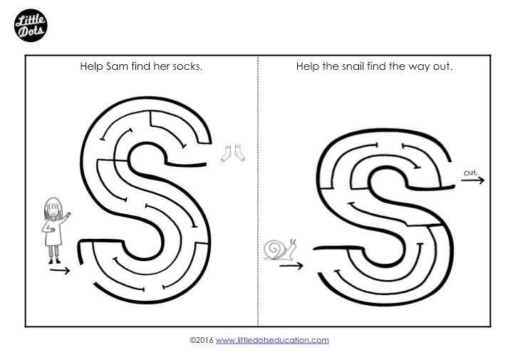 Letter S Maze