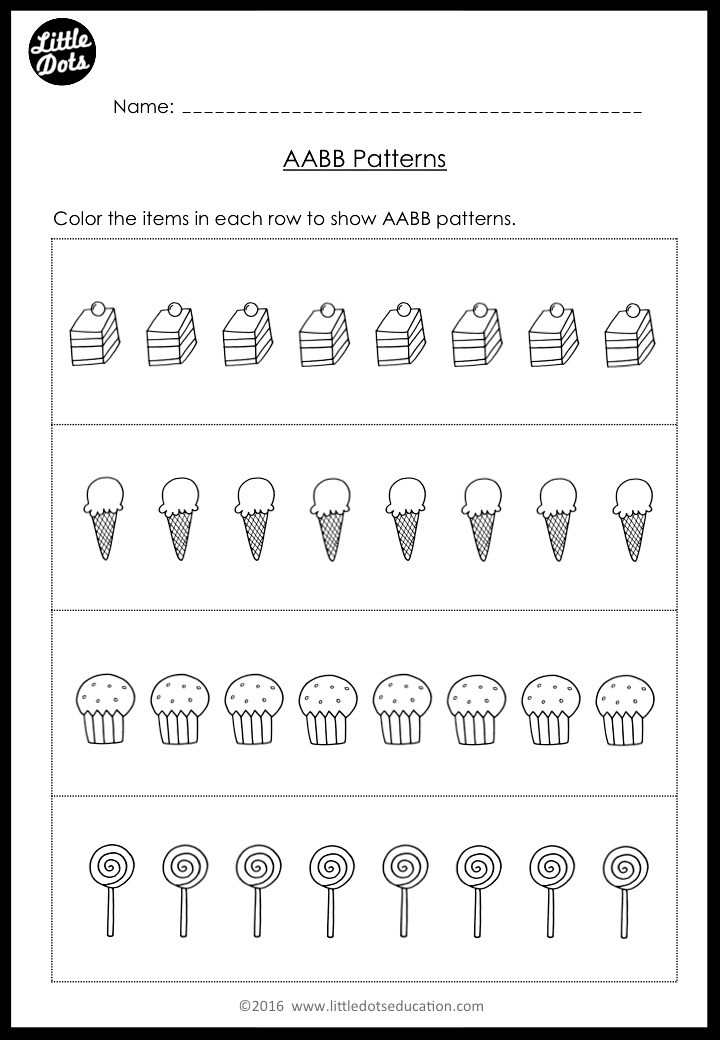 The Very Hungry Caterpillar Math Worksheet on Patterns