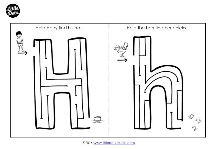 Letter H Maze
