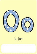 Make your own letter o book with this letter o book cover template.