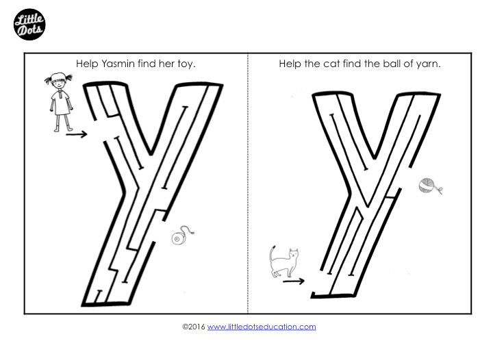 Letter Y Maze
