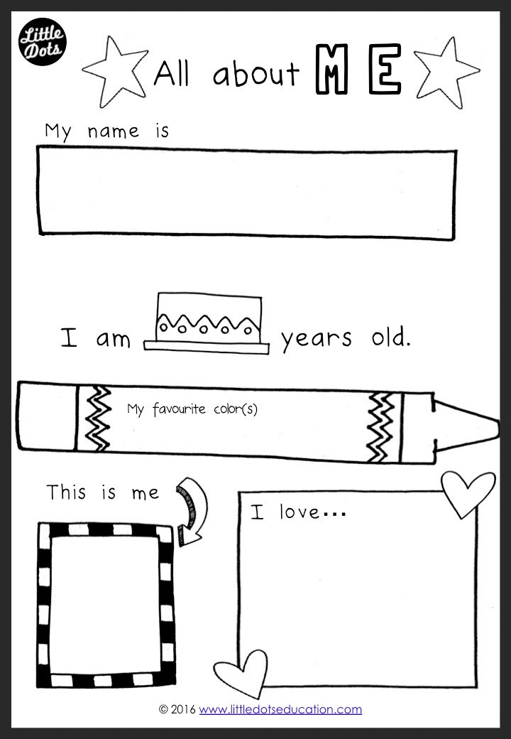 Free All About Me Activity and Printable