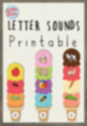 Free letter sounds ice cream printable. Match the pictures with the correct beginning sounds activities.