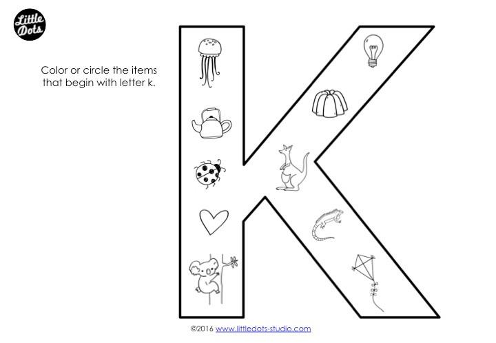 Letter K Sound Worksheet