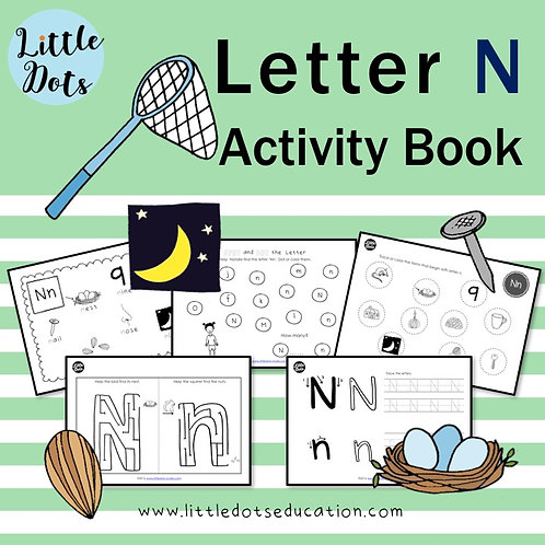 Letter N Activity Book