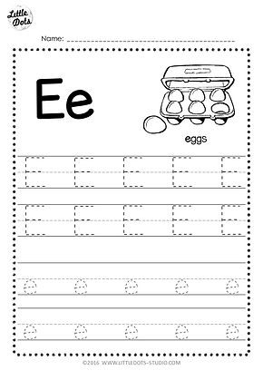 photo relating to Printable Letter E named No cost Letter E Tracing Worksheets