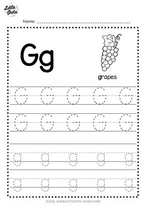 free letter g tracing worksheets. Black Bedroom Furniture Sets. Home Design Ideas