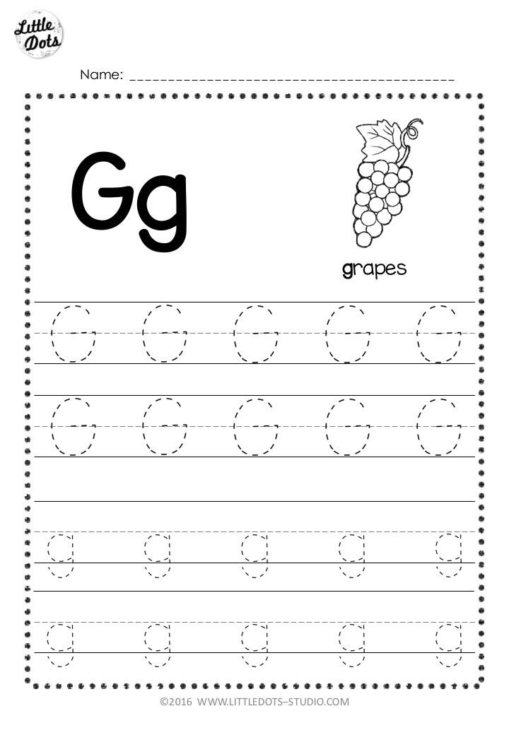 Kindergarten Worksheets Letter G