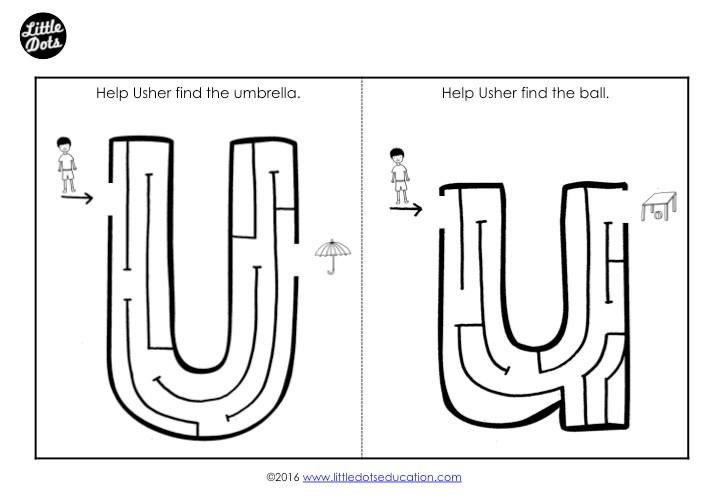 Letter U Maze