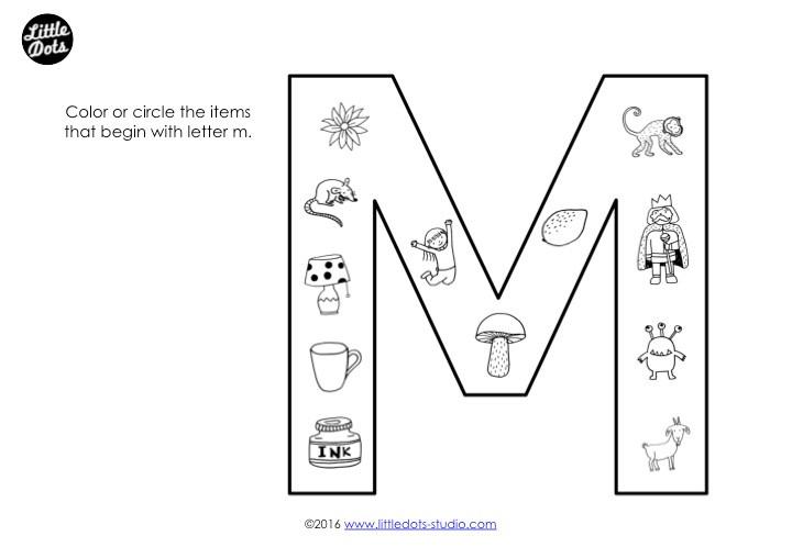 Letter M Sound Worksheet