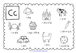 preschool letter c activities and worksheets. Black Bedroom Furniture Sets. Home Design Ideas