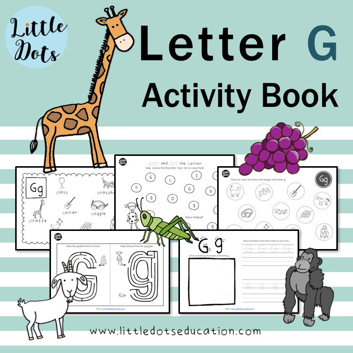 Letter G worksheets and activities for preschool