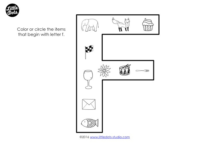 Letter F Sound Worksheet