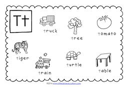 preschool letter t activities and worksheets. Black Bedroom Furniture Sets. Home Design Ideas