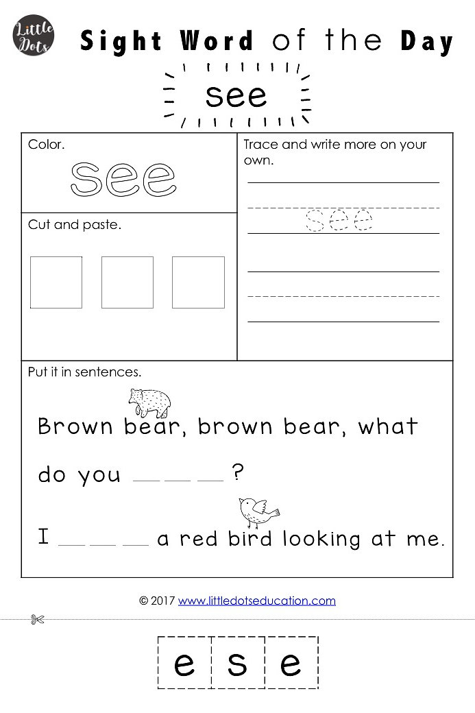 Little Dots Education | Preschool Printables and Activities ...