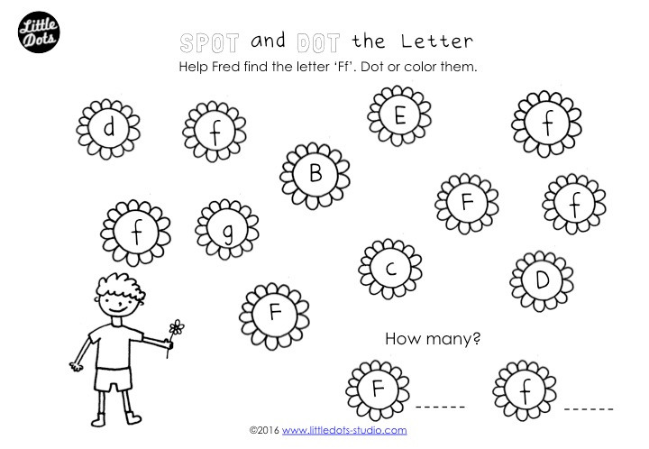 Spot and Dot the Letter Worksheet