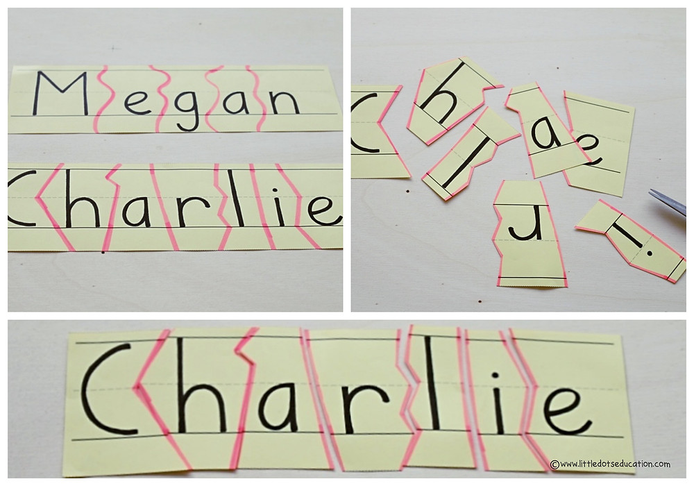 My Special Name Preschool Theme Activity. Name Puzzle