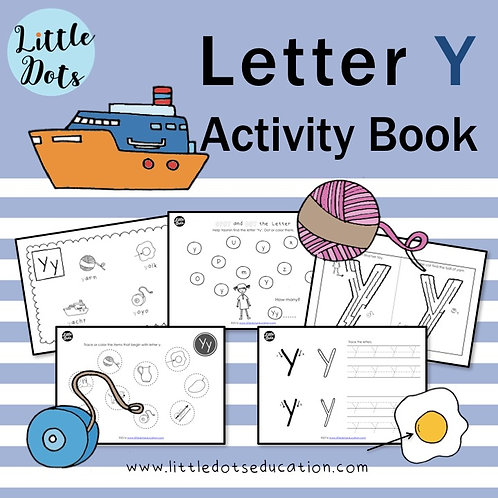 Letter Y Activity Book