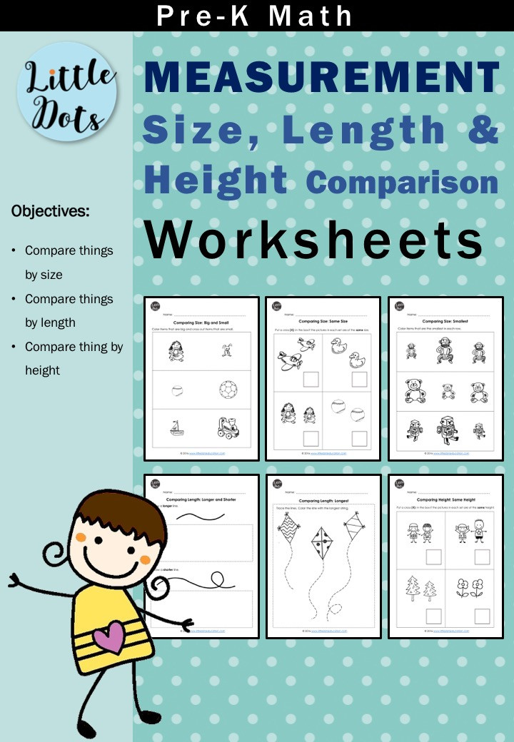 Measurement comparing size, length and height bundle pack