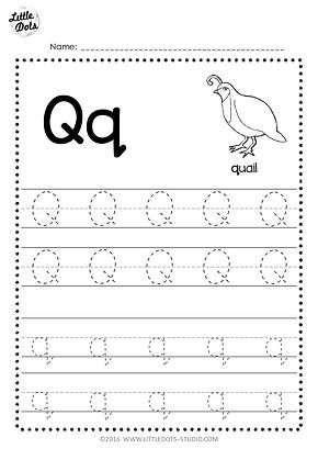 free letter q tracing worksheets. Black Bedroom Furniture Sets. Home Design Ideas
