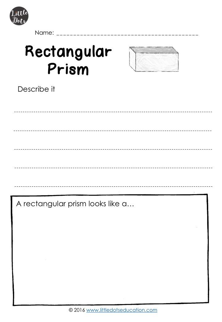 Free rectangular prism worksheet for kindergarten