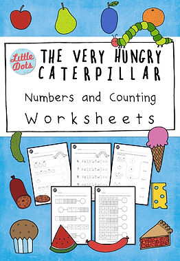 The Very Hungry Caterpillar Numbers and Counting Worksheets Set. Practice to count one to one correspondence from 1 to 10  with these worksheets.