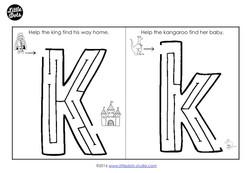 Preschool Letter K Activities and Worksheets | Little Dots ...