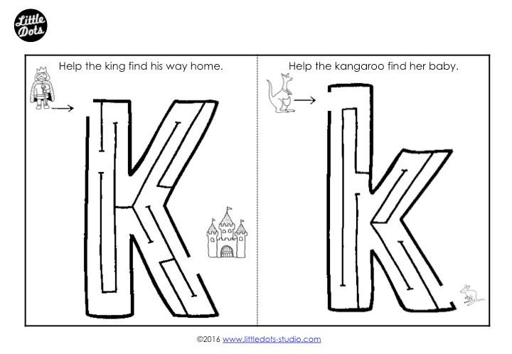 Letter K Maze