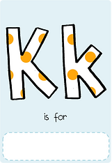 Make your own letter k book with this letter k book cover template.