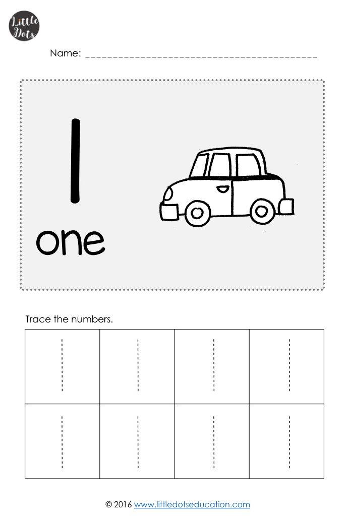 Pre-K Numbers 1 to 10 Worksheets