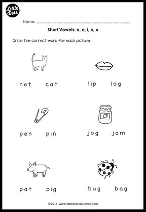 Adverbs Worksheets For Grade 6 Pdf Short Vowels Middle Sounds Worksheets And Activities  Little  Free Fill In The Blank Worksheets Excel with Free Math Worksheets For Grade 1 Excel Kindergarten Short Vowels A E I O U Worksheet Super Teacher Worksheet Login Word