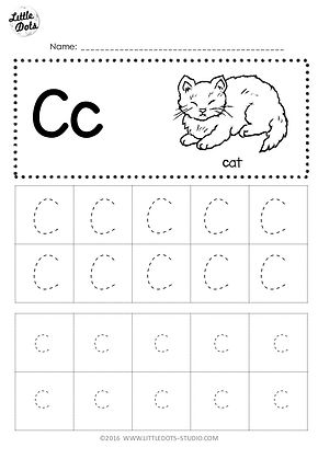 photograph about Letter C Printable identify Absolutely free Letter C Tracing Worksheets