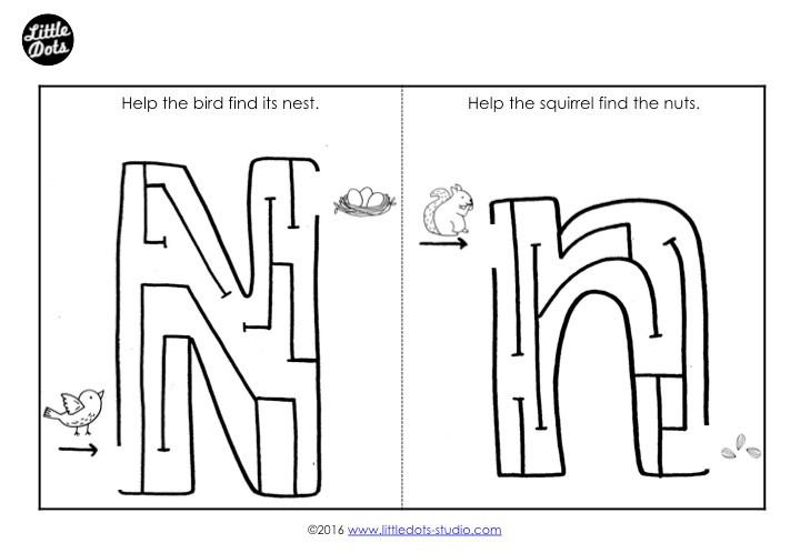 Letter N Maze