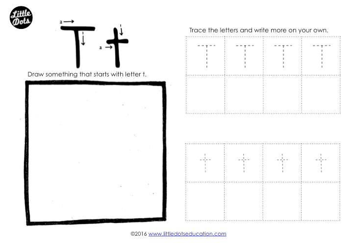 Letter T Tracing Worksheet