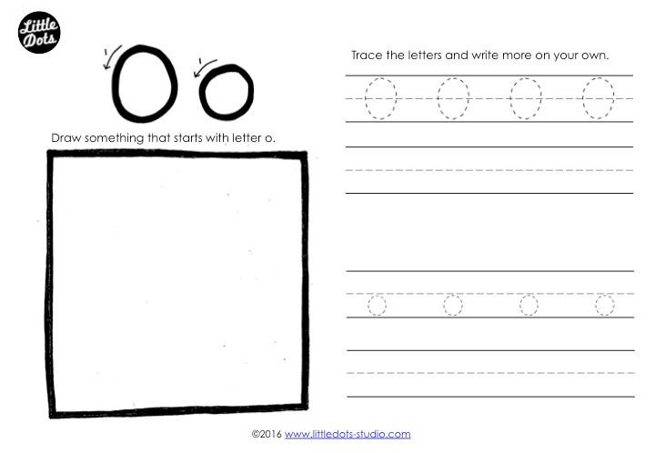 Letter O Tracing Worksheet