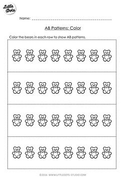 Free Preschool Math Printables | Little Dots Education