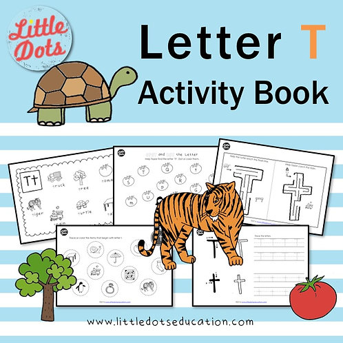 Letter T Activity Book