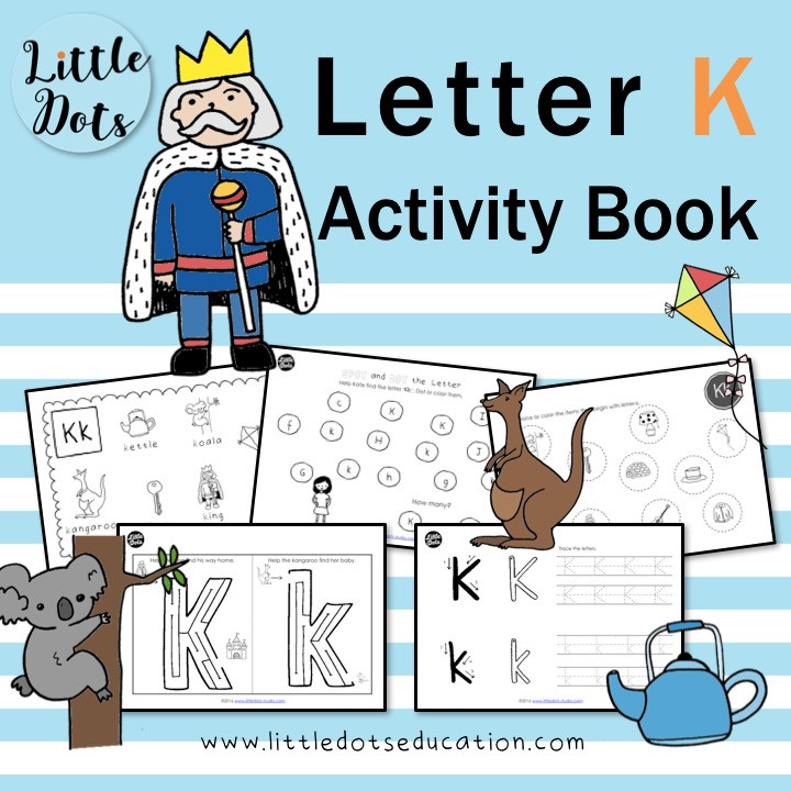Letter K worksheets and activities