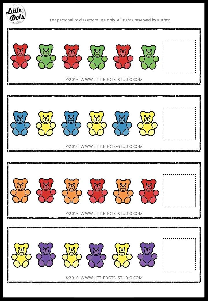 Free AB patterns printable for pre-k