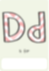 Make your own letter d book with this letter d book cover template.