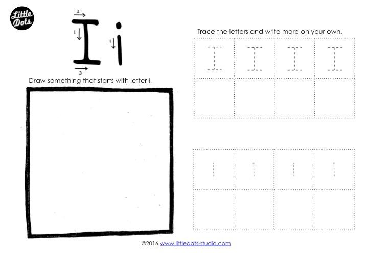 Letter I Tracing Worksheet