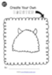 Preschool free printable to create your own monster. A cute monster template for art activity.