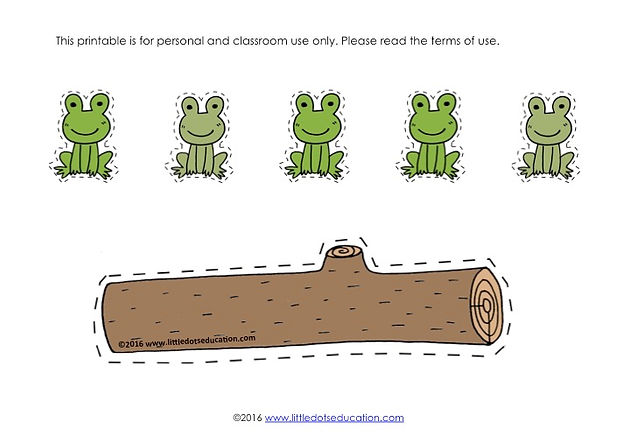 graphic relating to Printable Frogs named Absolutely free Frogs upon a Log Subtraction Printable