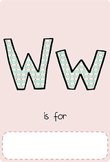 Make your own letter w book with this letter w book cover template.