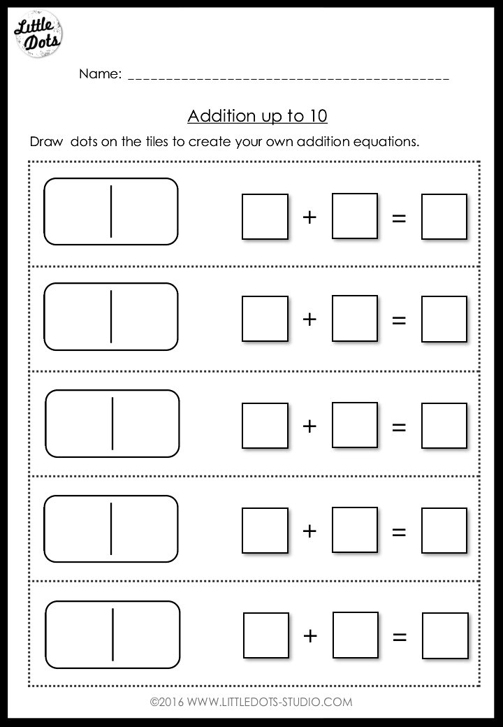 create your own addition equation worksheet