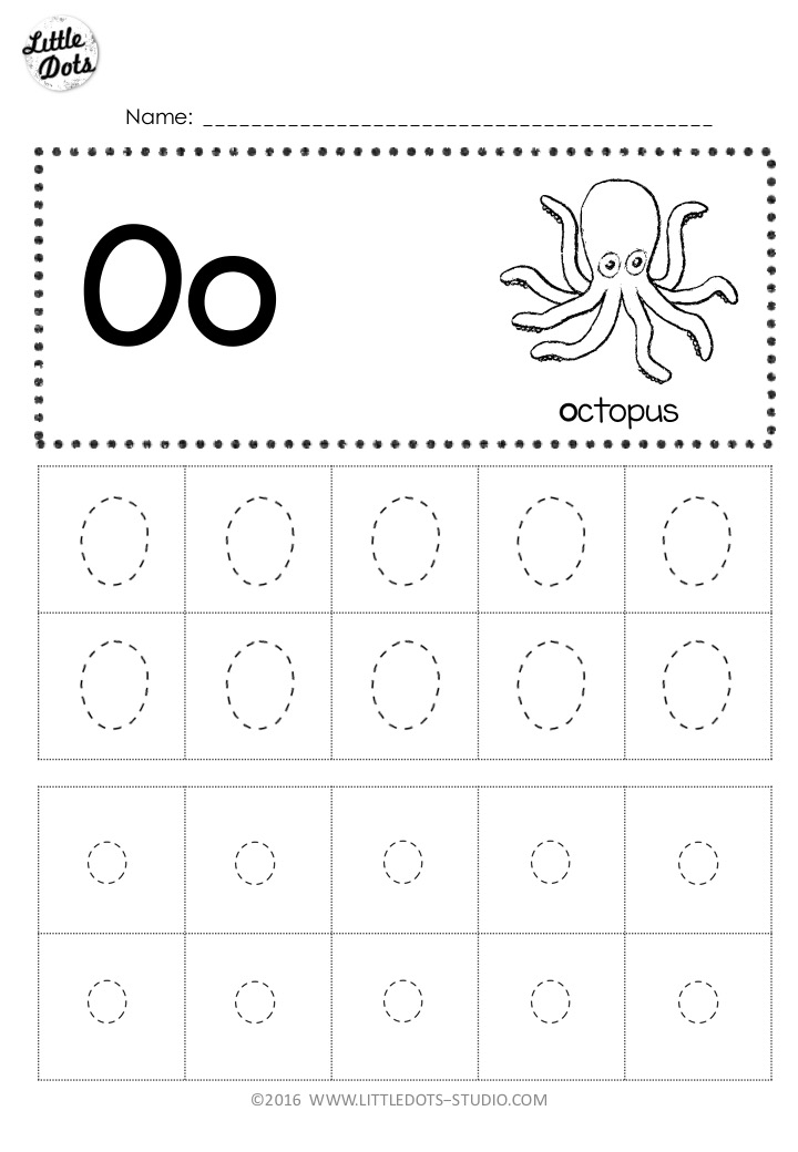 Free Letter Oo Tracing Worksheets